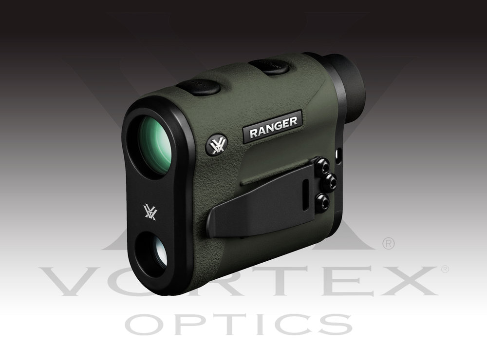 Vortex Optics Ranger 1800 Laser Rangefinder MSRP: $579.99  - Magnification: 6xObjective Lens: 22 mmEye Relief: 17 mmDiopter: +/- 3 dioptersRange Reflective: 9–1800 yards (9–1646 meters)Range Deer: 9–900 yards (9–822 meters) Accuracy: + /- 3 yards @ 1000 yardsMaximum Angle Reading: +/- 60 degrees (INC 50)Measuring Time: < 1 second Battery Life: 2000 single Range minimum Operating Temperature: 14° to 131°F (–10°to 55°C)More INFO
