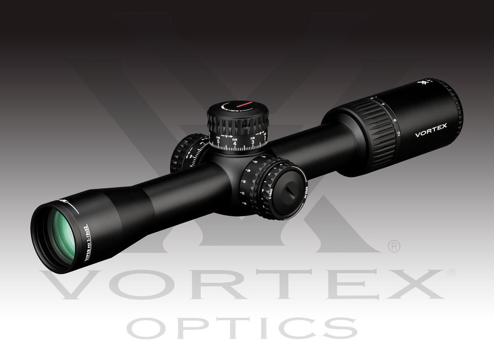 Vortex Optics Viper PST Gen II 2-10x32 FFP EBR-4 MRAD MSRP: $1249.99 - Magnification: 2-10 xObjective Lens Diameter:32 mmEye Relief: 3.2 inField of View: 58.3-11.7 feet/100 yardsTube Size: 30 mmTurret Style: Tactical RZR Zero StopAdjustment Graduation: .1 MRADTravel per Rotation: 10 MRADMax Elevation Adjustment: 26 MRADMax Windage Adjustment: 26 MRADParallax Setting: 20 yards to InfinityLength: 12.75 inchesWeight: 26.3 ouncesMore INFO