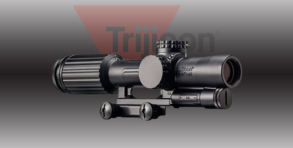 TRIJICON VCOG  MSRP: $2800.00  - • Magnification: 1-6x• Weight: (oz)23.2 (w/o mount or battery)• Calibration: .223 / 55 grain• Eye Relief: 4 in. Constant• Field of View (Degrees)18.0 - 3.0• Field of View @ 100 yards (ft)95 - 15.9• Adjustment Range Elevation: 90 MOA total travel                     Windage: 90 MOA total travel              Per Revolution: 35 MOA MORE INFO