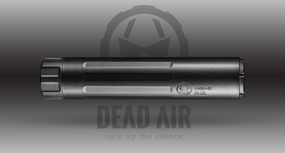 Dead Air Silencers Mask                    MSRP: $449.00 - • Rating:.17 - .22LR, 5.7 x 28mm• Length:5.1