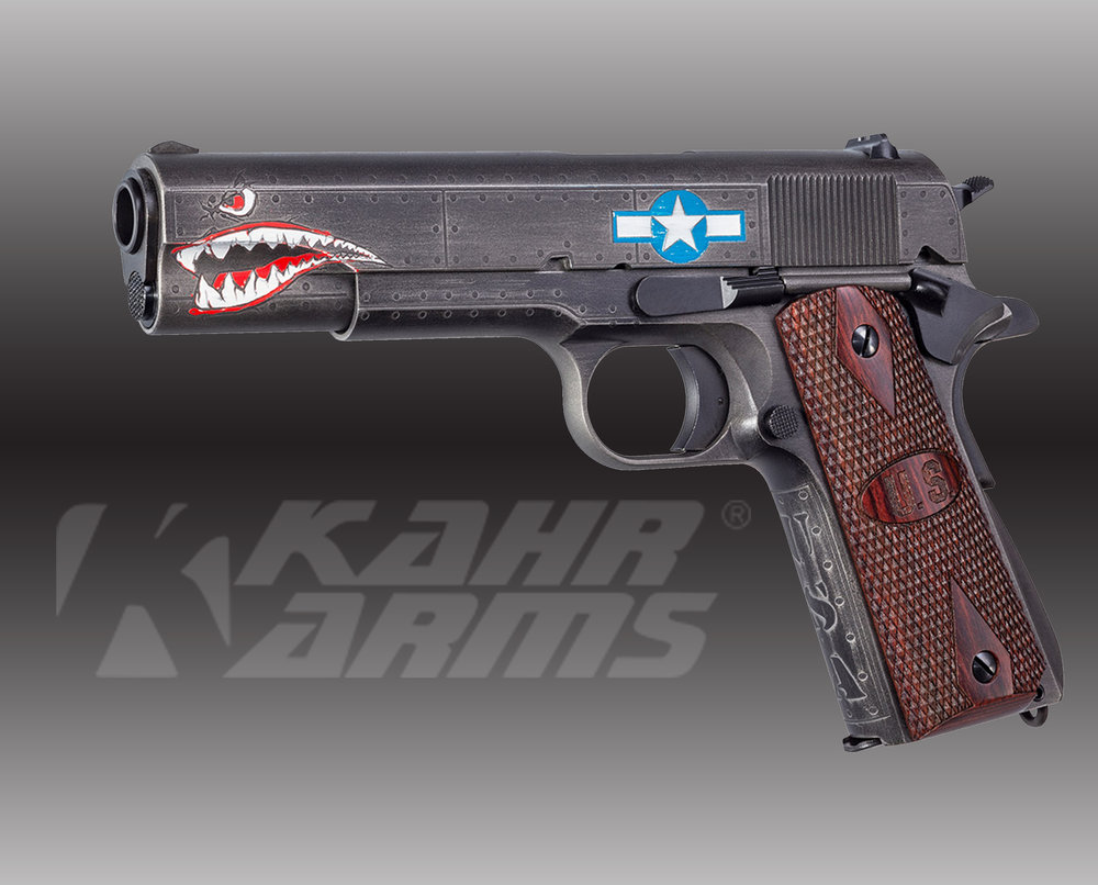 Kahr Firearms Squadron Special Edition WW2 1911, .45Cal.  MSRP: $1106.00  - • Caliber .45 ACP• Barrel 5