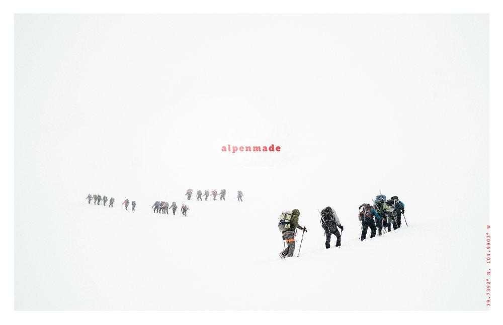 alpenmade brand poster design