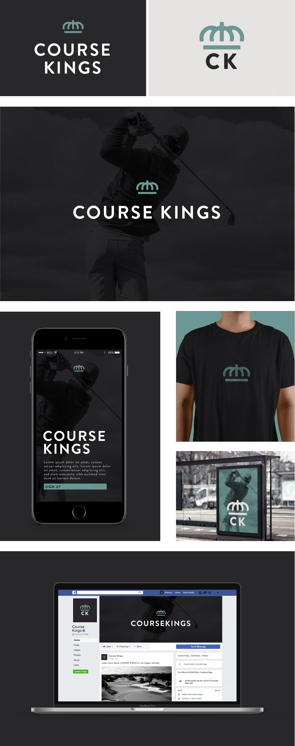 Course Kings Branding Design Draft