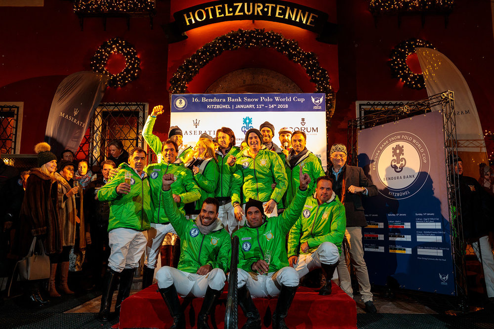 "Thursday - 17th January 2019 -  5 pm – Polo presentation of the teams and sponsors - Maserati shuttle with all teams and players in front of the ""Hotel zur Tenne"" 7 pm – Welcome Party at the ""Casino Kitzbühel"" (by invitation only, for players - sponsors - officials and journalists)"