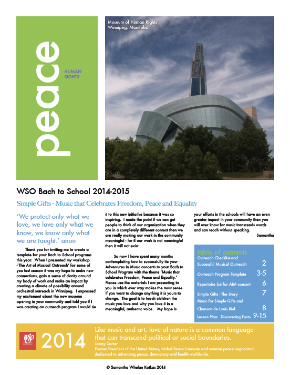 Winnipeg Symphony Orchestra - Musician's Guide