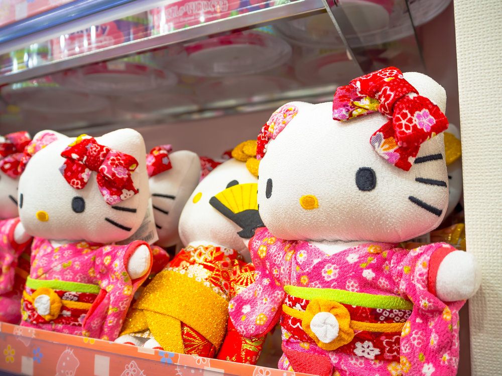 HELLO KITTY IS ALWAYS FEMALE, AND KAWAII. CREDIT: FOTO593 / SHUTERSTOCK