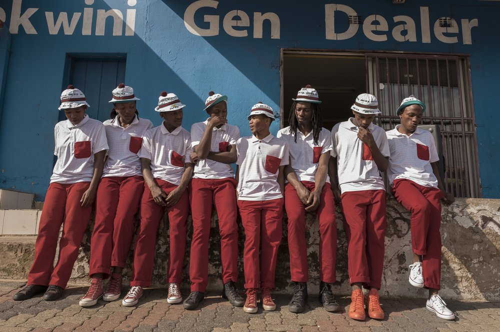 PANTSULA TROUPES USE STREETS AS A CATWALK, EACH COMPETING AND DISPLAYING ITS OWN DISTINCT DANCE MOVES. CREDIT: LURE