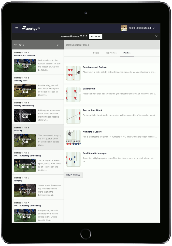 Session Plans - Streamline your team's training with highly personalized session plans designed by today's best coaches.