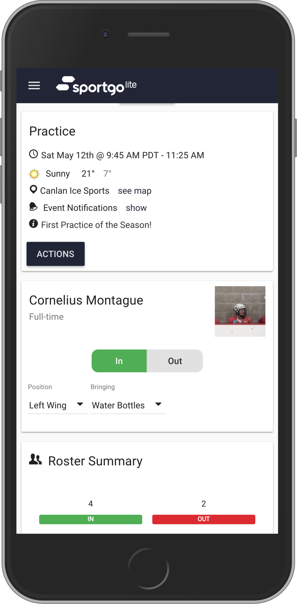 Team Management & Organization - Simple automated event invites, reminders and attendance reports mean less work for everyone.
