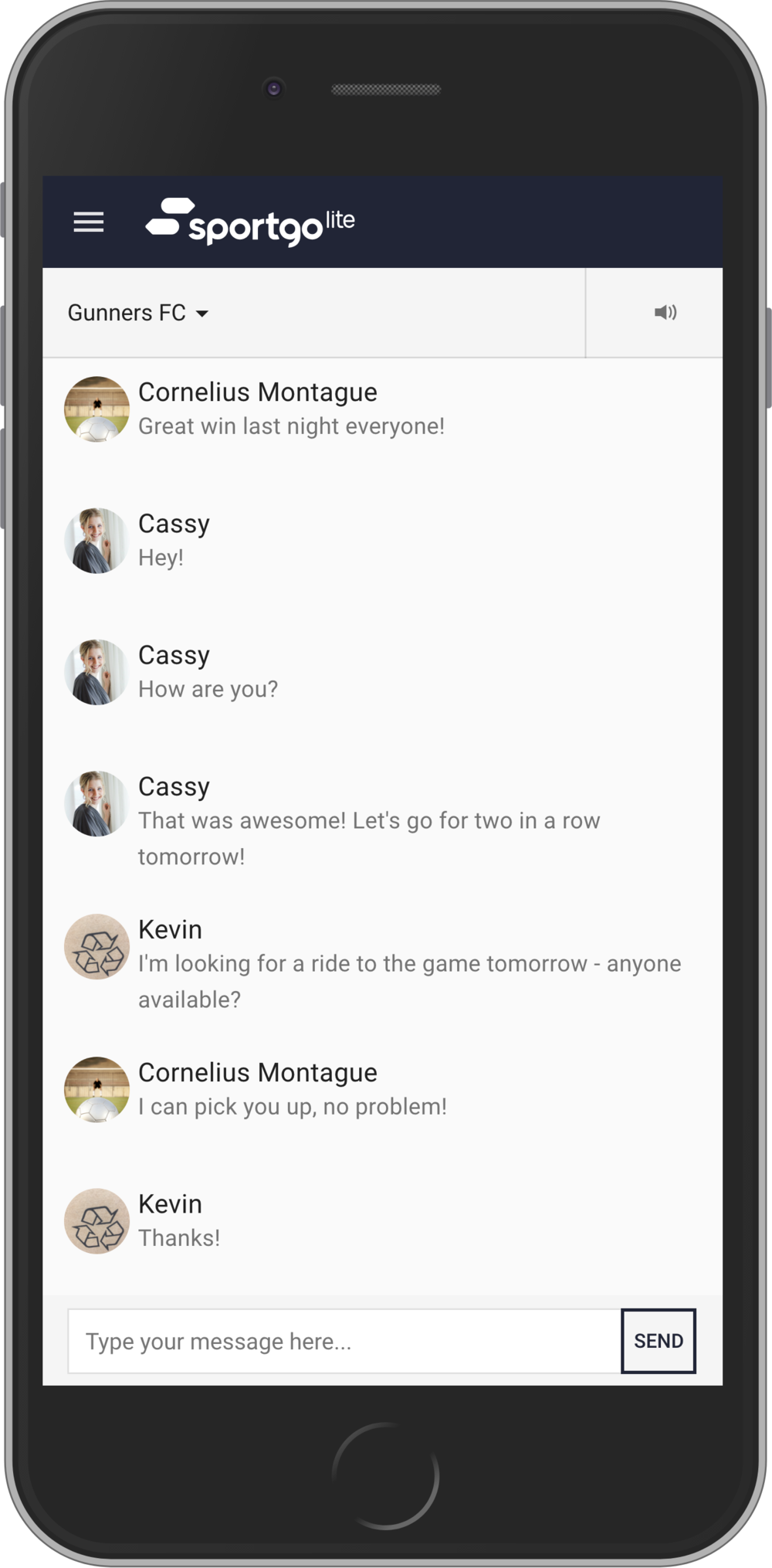 Team Communication - Easily contact your team, coordinate tasks and send last minute updates so that everyone is on the same page.