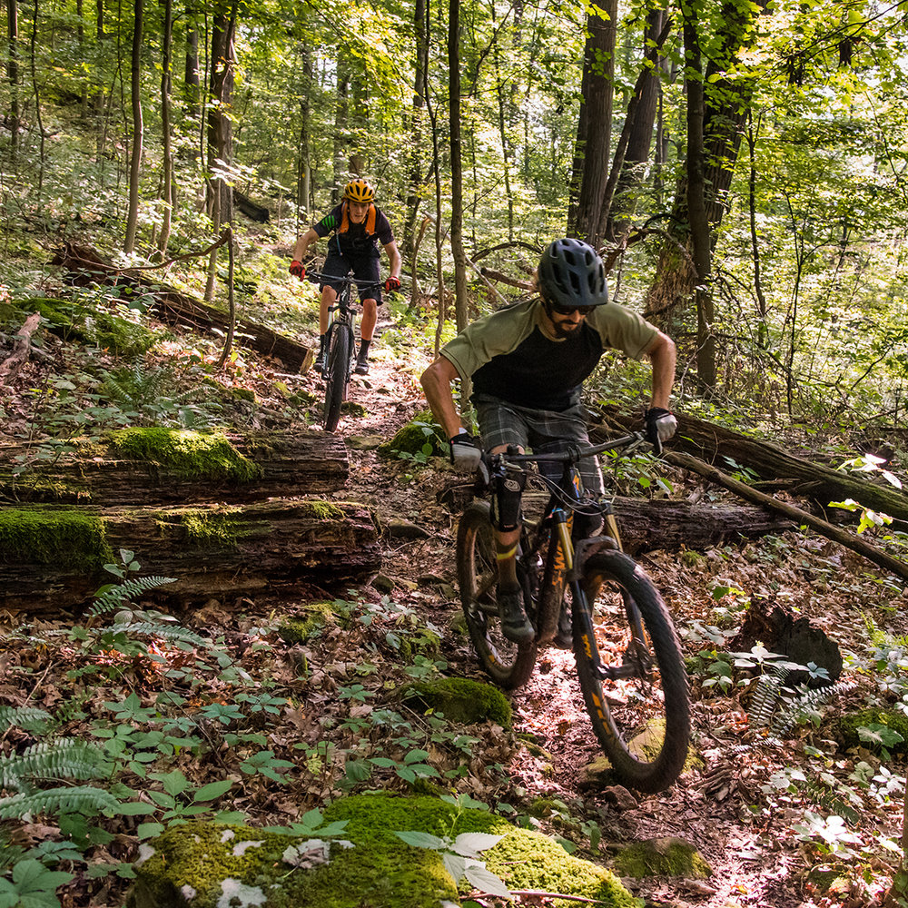 Mountain Biking - All group rides will take place on the Marietta City Trail System, 20+ miles of quality singletrack trails ready for action!  The trail system is accesible from downtown, making it easy to head back for a burger and brew after your ride! Also nearby, the Wayne National Forest boasts 40 miles of slightly more technical riding and Mountwood Park has an incredible trail system as well. If you head that direction (on your own), come back to town for evening fun! Links:River Valley Mountain Bike AssociationMarietta City Trail SystemMountwood ParkWayne National ForestNorth Bend State Park