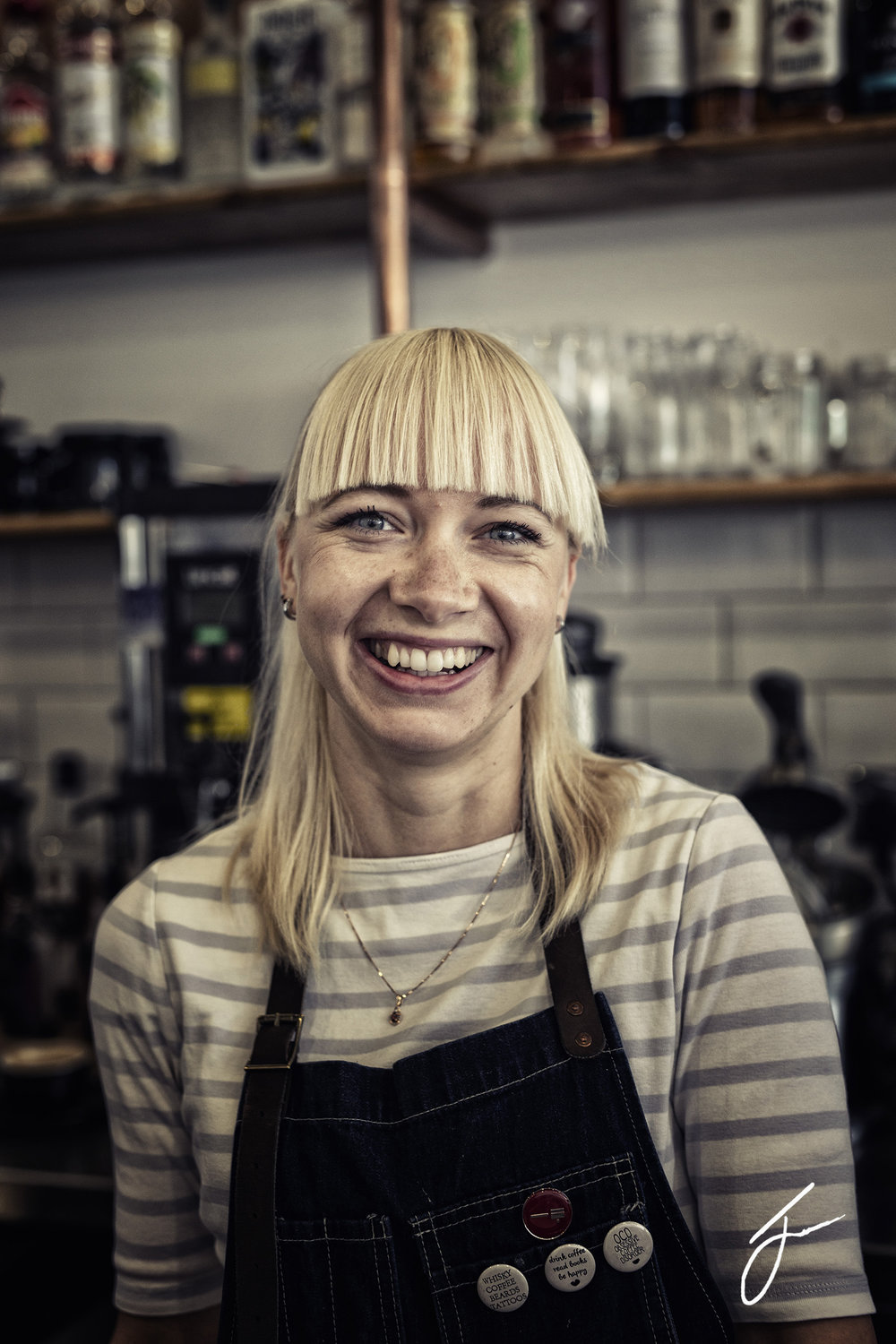 Lana, manager of The Calypso Coffee Company, Torquay. ©Julie Corcoran 2018
