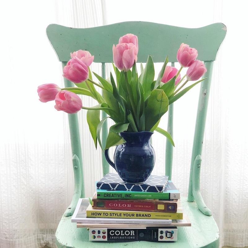 Branding-books-favorite-green-chair-by-Laura-briedis