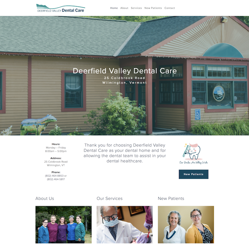 Deerfield Valley Dental Care Homepage