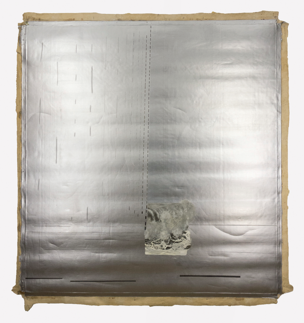 "Alabama Gulf, Rain, Summer; 1966; Magna and (Aluminum) Oil on canvas; 72x68""; Item #016"