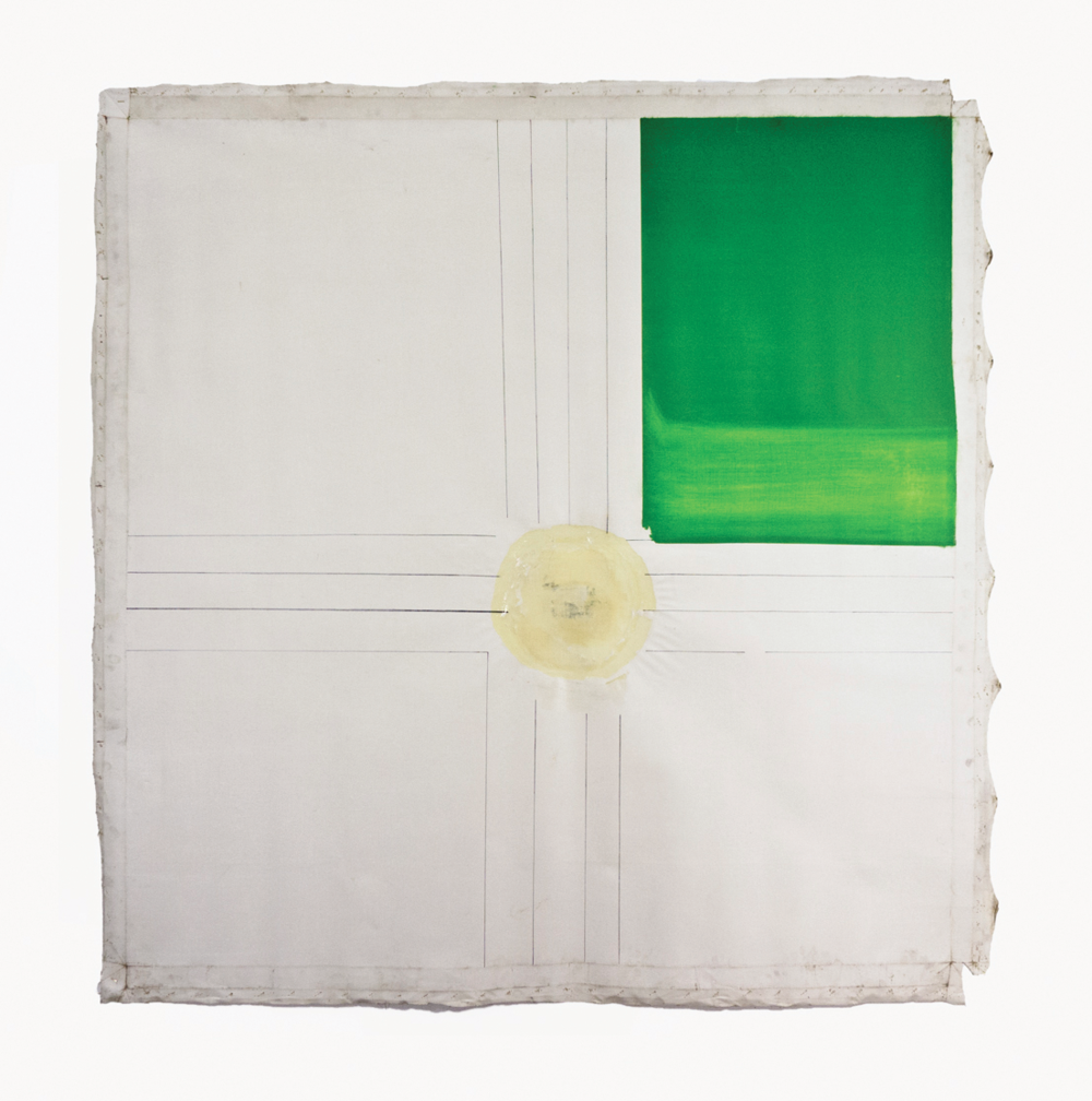 "Formal Garden; Estate Grounds series; 1965; Oil and resin/emulsion on linen; 60x60""; Item #063"