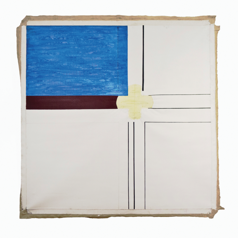 "Fountain; Estate Grounds series; 1965; Oil and resin/emulsion on linen or duck; 60x60""; Item #065"