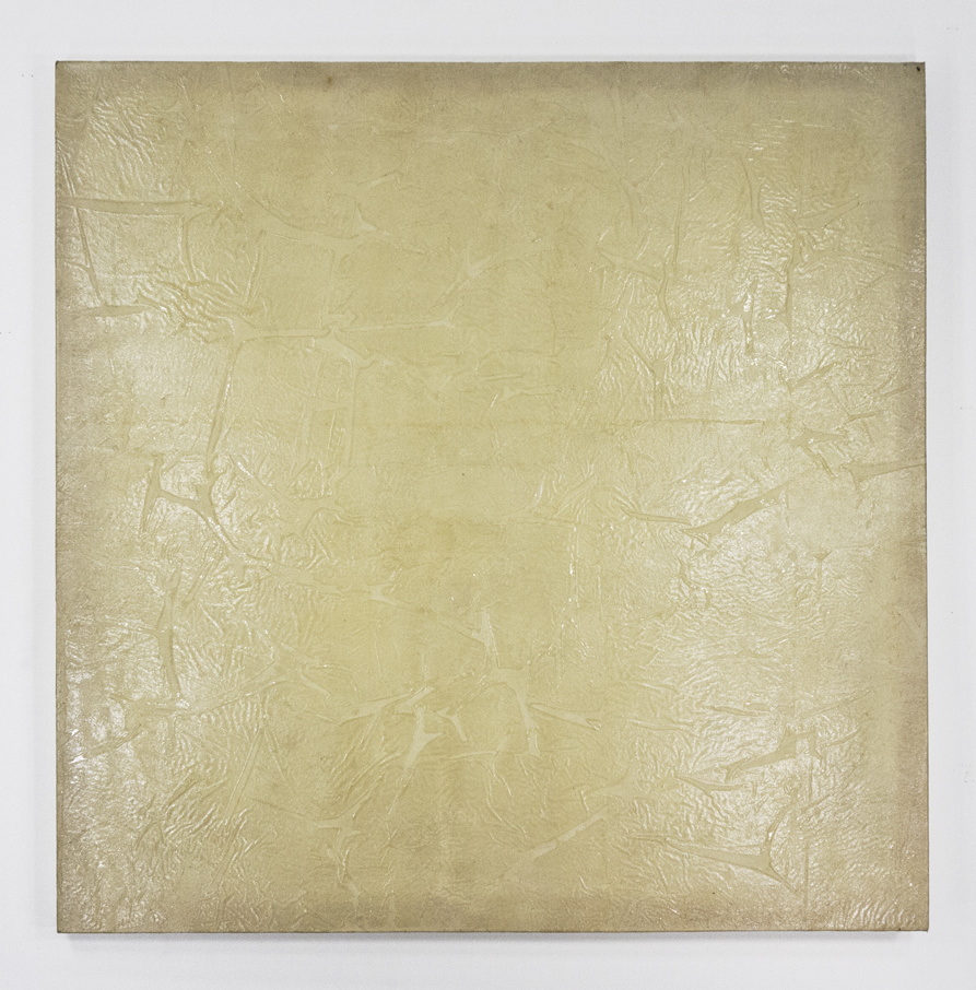 "Wragh; 1971; Gesso and acrylic on linen; 43 x 42 ½""; Item #213"