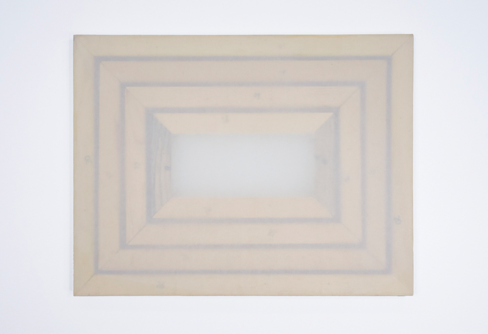 Numbars; four painting frames, sized as noted below; tracing paper; largest painting frame: 25 5/8 x 19 5/8""