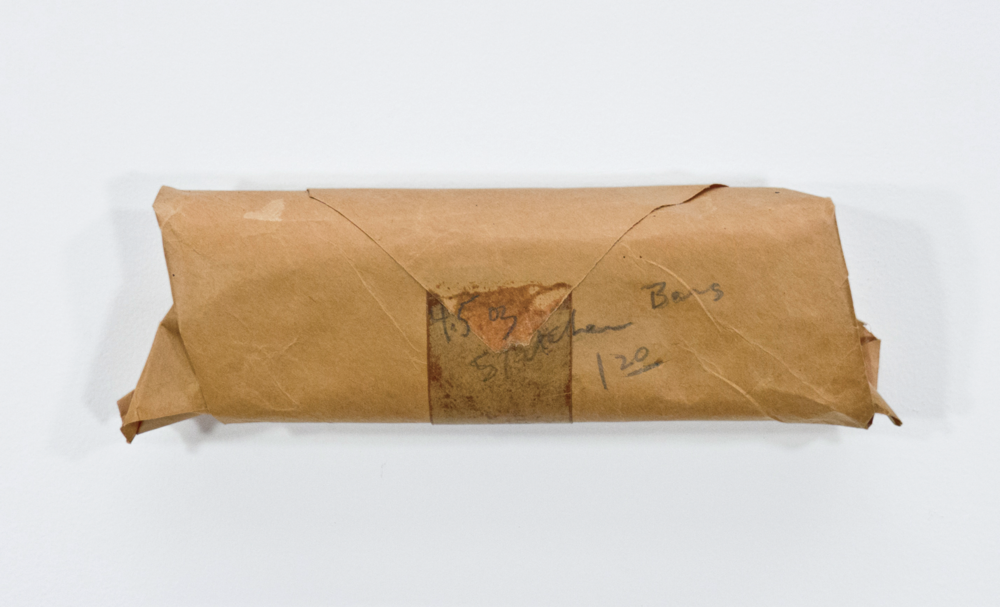 4.5oz Stretcher Bars; stretcher bars, packing paper and graphite; 10 ½ x 3 x 1 3/8""