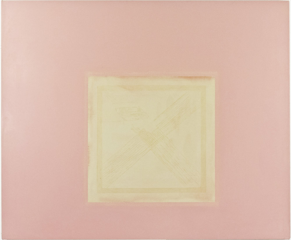 1976; acrylic and emulsion on canvas; 48 x 40""