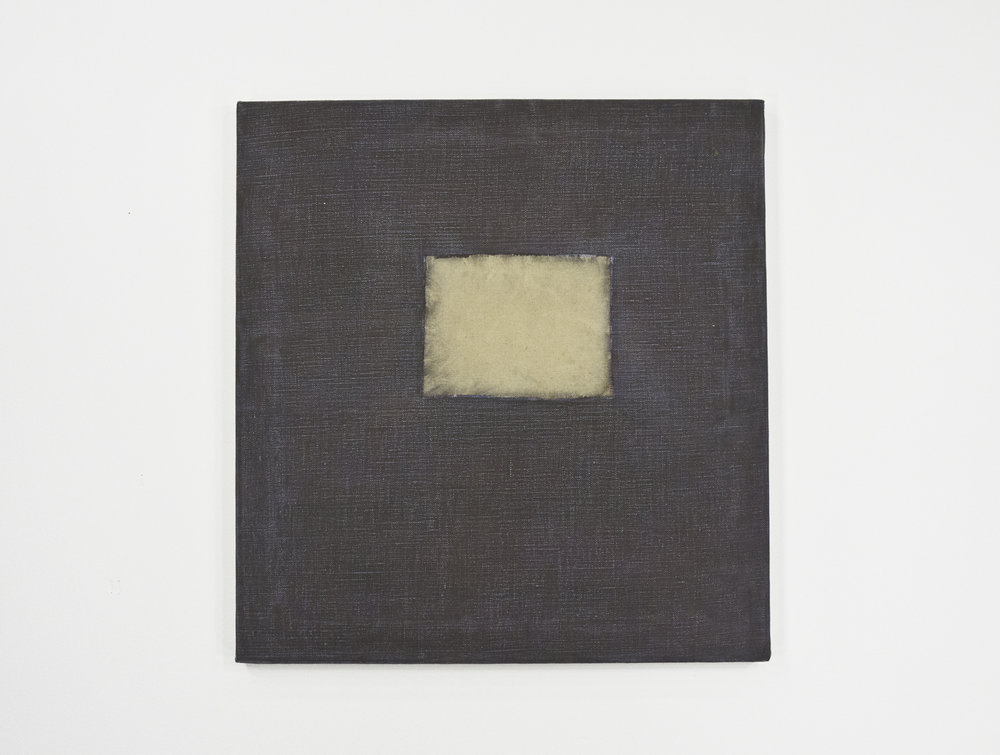 """The Snaps 1; dry pigment sanded canvas with oil; 20 ⅞ x 19 ½"""""""
