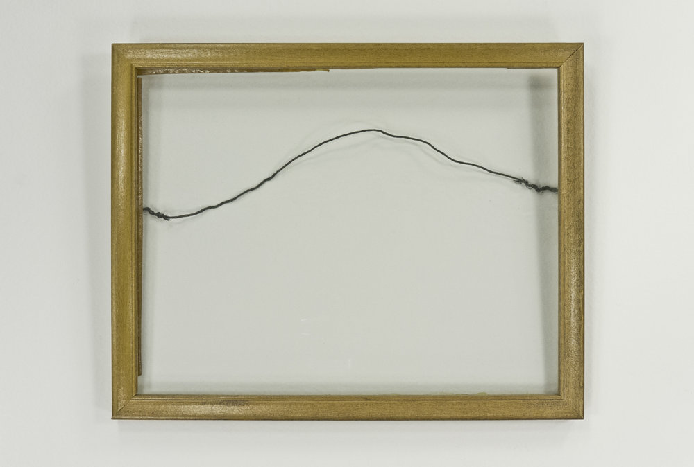 Picture Frame Wire (Set I); Leonardo Perspective series; 1976; frame, glass, and resin; 7 x 9""