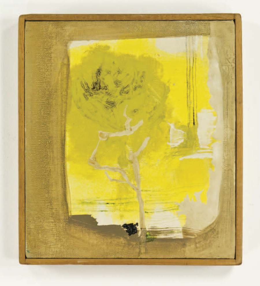 "Lemon Tree after Lorca; 1961; Oil on canvas; 8x9""; Item #034"