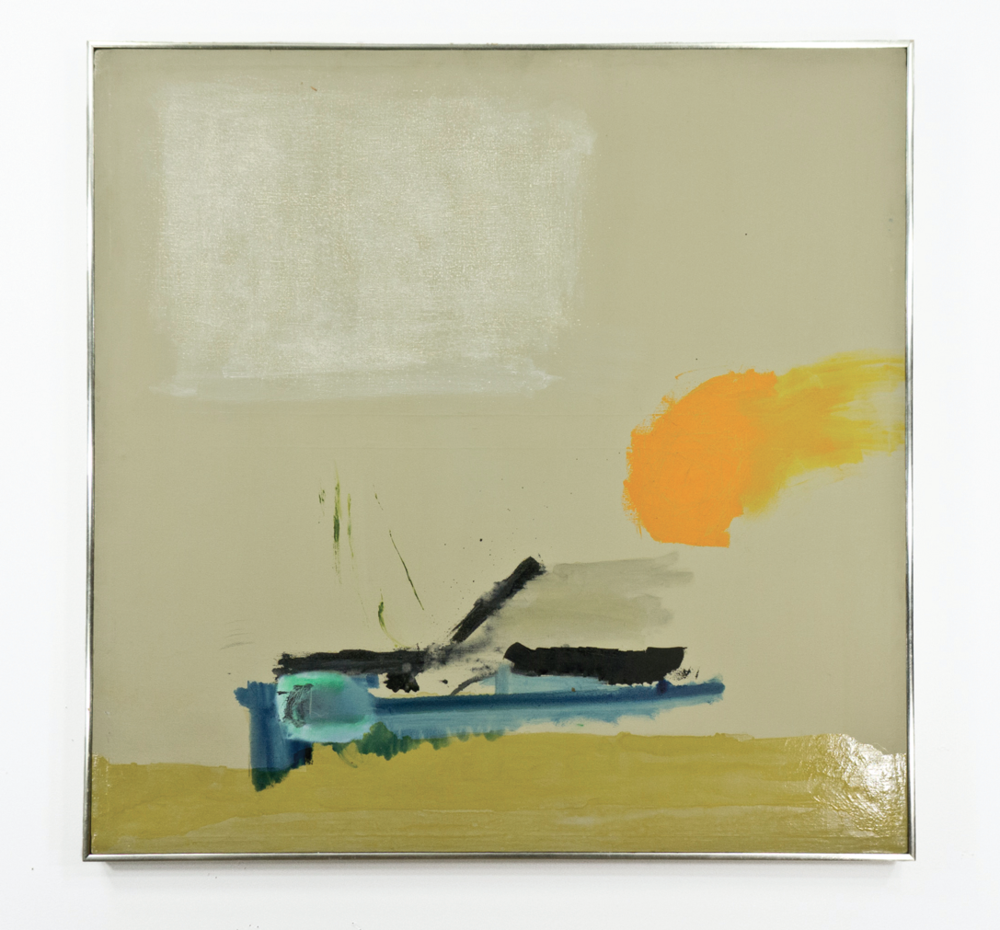 "Lyric Oyster; 1960; Gesso, oil and varnish on canvas; 39 x 38 1⁄2""; Item #060"