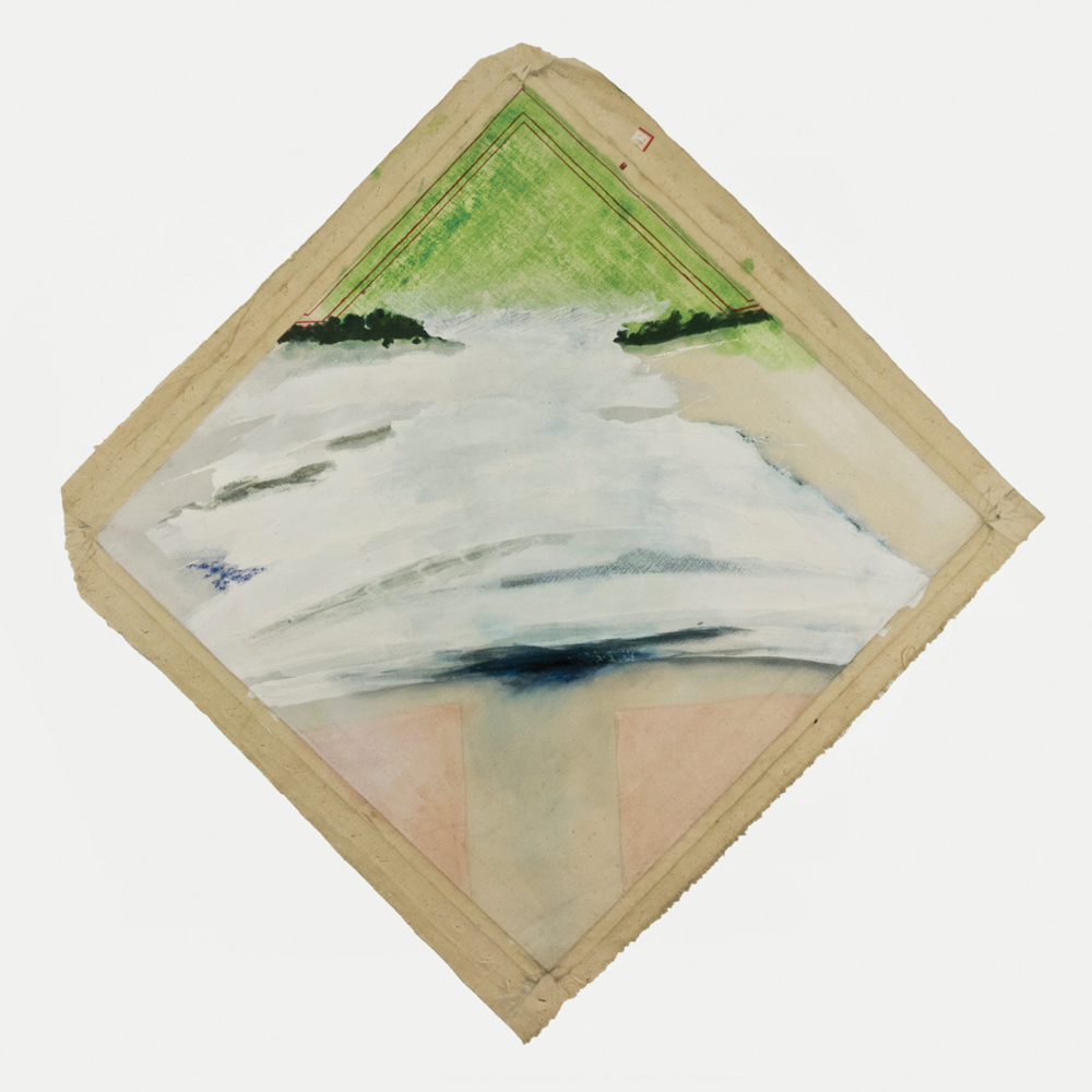 "Formal Beach; 1964; Magna and gesso on canvas; 30 3⁄4 x 30 3/8""; Item #014"