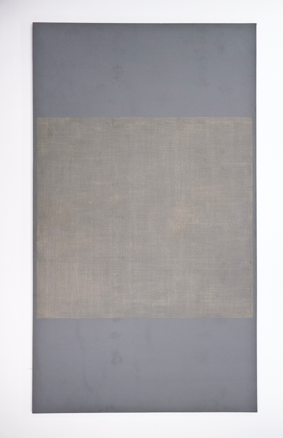 "Child's Time; 1967; Playing Fields series; Gesso and Acrylic on Linen; 119 x 67""; Item #069"