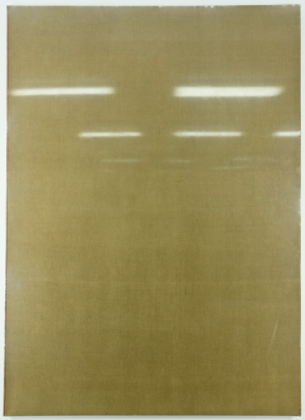 "Audaz; 1971; Vinyl on untreated linen on frame; 67 x 48""; Item #216"