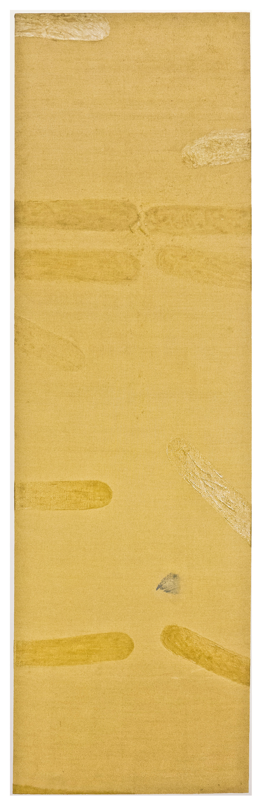 "Kuta, Cuba, AM; 1971; Resin/emulsion on unpainted linen; 103 x 31""; Item #253"