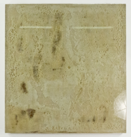 """View from the Academy; Glass resined onto sized linen; 30x33""""; Item #083"""