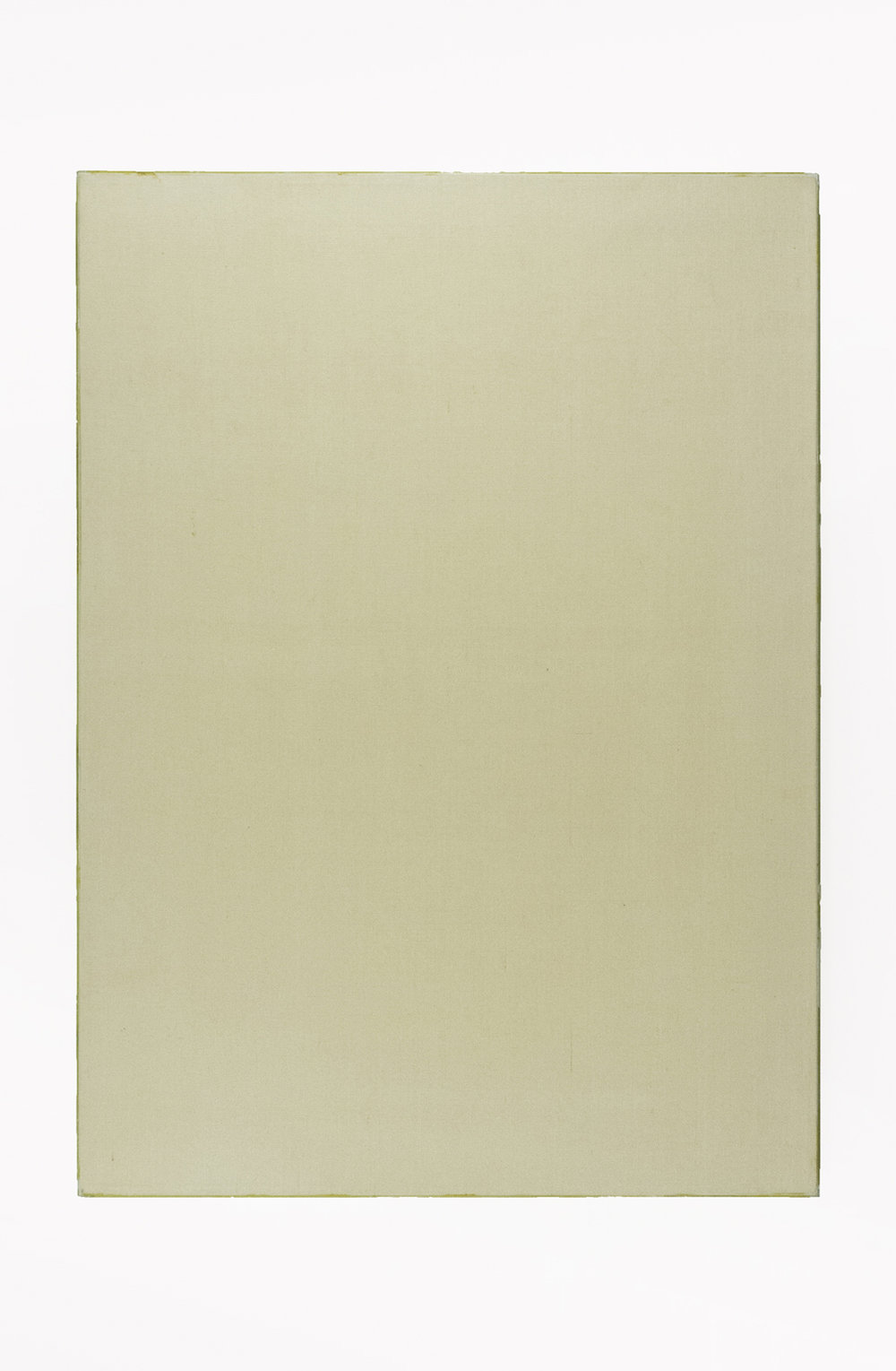 """Portrait of L's Worth; Sized linen with resin fixed glass edges; 36 x 26""""; Item #089"""