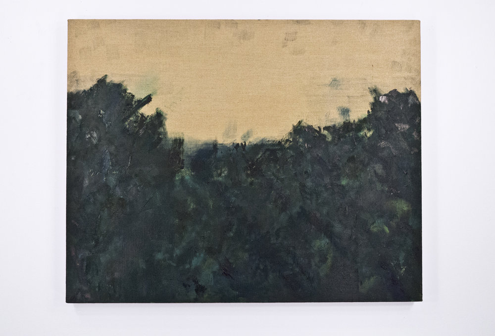 "Landscape at Cézanne; Oil on sized linen; 28 x 35""; Item #098"