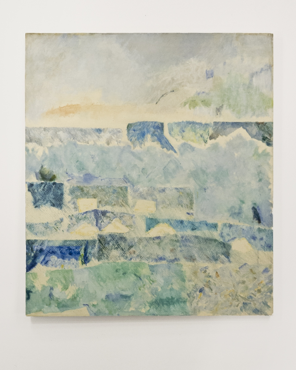 "Bend in the Skies near Cézanne; Oil on linen; 46 x 40""; Item #095"