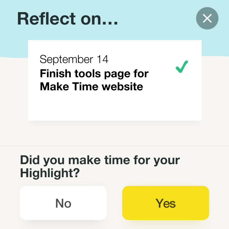 Make time app Reflect.png