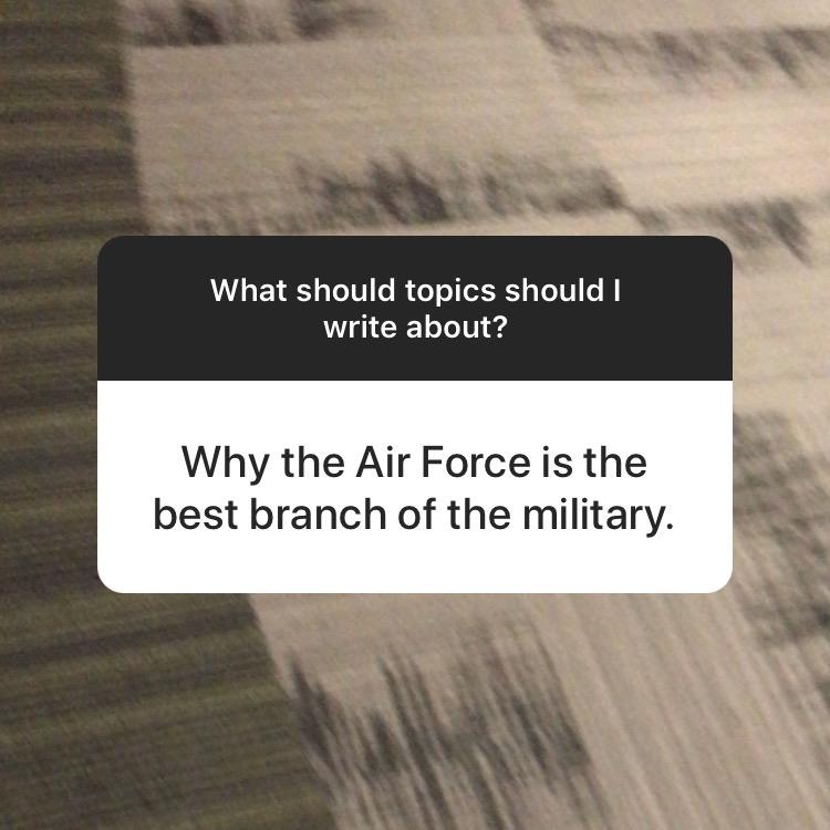 Best Military Branch >> Best Military Branch The Air Force Daily Ramblings July 14