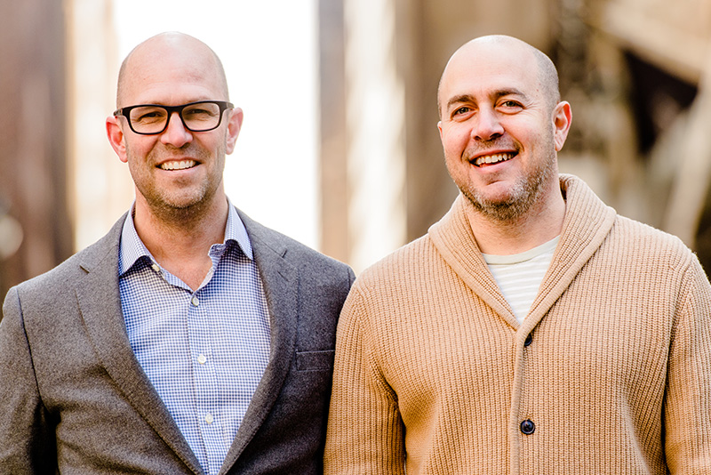 Co-founder/CEO Paul Marcum (left), Co-founder/Chief Creative Officer Brook Lundy (right)