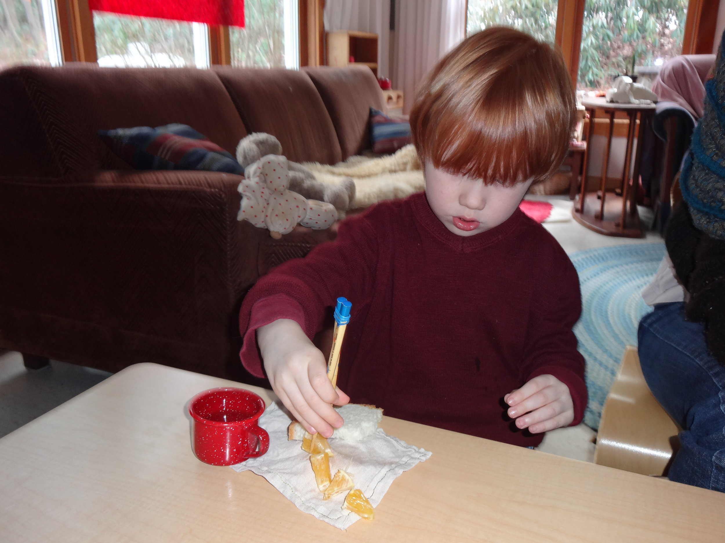 Learning to eat with chopsticks