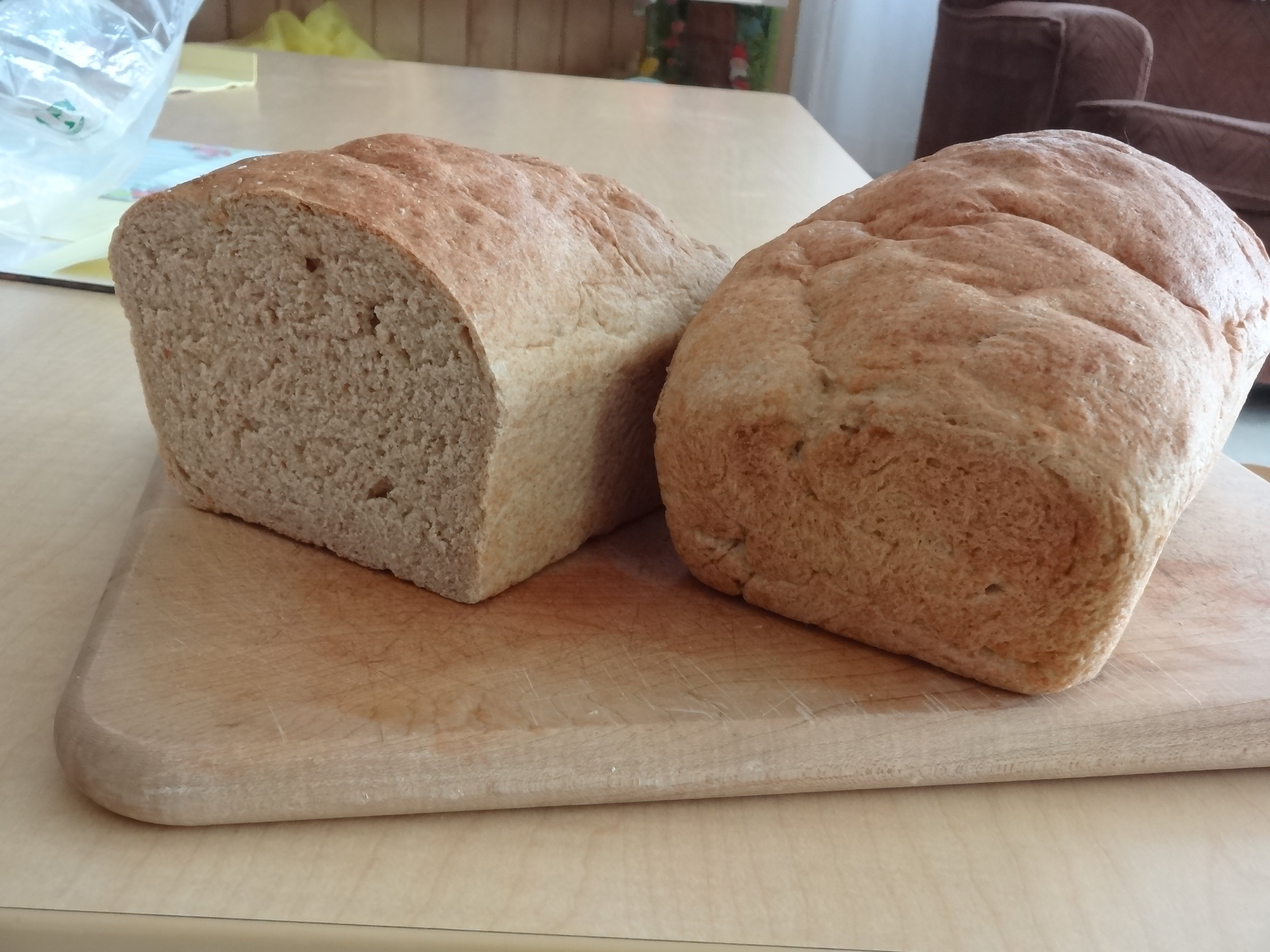 Delicious home baked bread