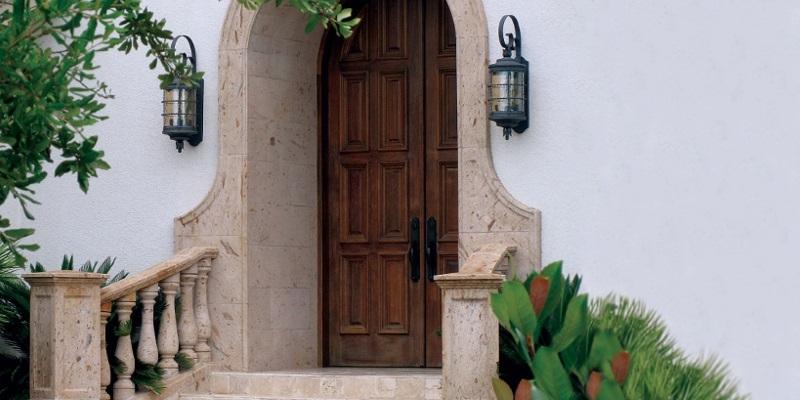 Pinon Stone Entry Surround, Balustrade & Newels.jpg