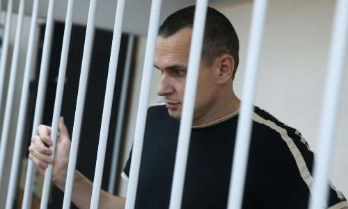 Oleg Sentsov behind bars.