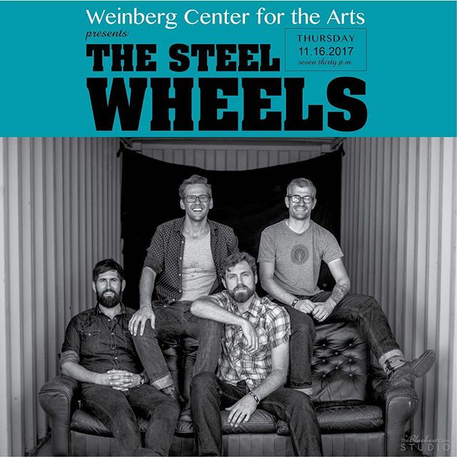 We're over the moon that one of our favorite bands, @thesteelwheels is returning to Frederick this Thursday night at @weinberg.center ! . . . . #thesteelwheels #downtownfrederick #wildaswecamehere #frederick #frederickMD #frederickmaryland #weinbergcenterforthearts #getitdowntown