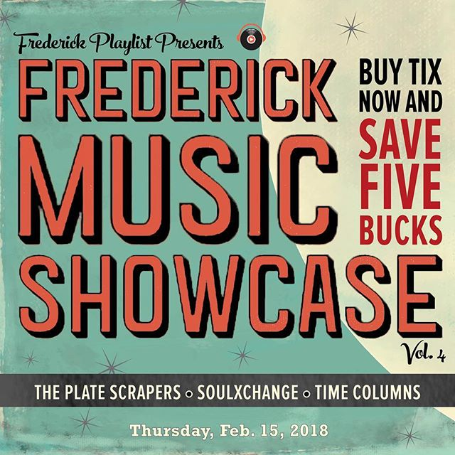 Have you heard about this? Frederick Folk Fest officially supports this event! Frederick Playlist Presents: The Frederick Music Showcase Vol. 4! Featuring: The Plate Scrapers (Cosmic American Bluegrass) SoulXchange (Soul, Jazz, Funk, Back in town from Austin, TX, for ONE NIGHT ONLY!) Time Columns (Mostly Instrumental Post-Prog) Thursday, February 15th • 7 o'clock • The Weinberg BUY TIX NOW & SAVE 5 BUCKS (Tix link in profile!) $10* Adv | $15* D.O.S. (plus pesky fees) ALL AGES SHOW (Must be 21 to drink) @theplatescrapers @soulexchangemusic @timecolumns @weinberg.center @frederick_playlist . . . . #FrederickMusicShowcaseVol4 #FrederickMusicShowcase #FrederickPlaylist #FNP #DowntownFrederick #Frederick #FrederickMD #DowntownFrederickMD #FrederickMaryland #theplatescrapers #soulxchange #timecolumns #FrederickNewsPost #FNPEvents #SupportFrederickMusicians #getitdowntown #downtownfrederickpartnership #visitfrederick #visitfrederickmd #visitfrederickmaryland #frederickmusic #marylandpride #frederickpride #marylandmusic