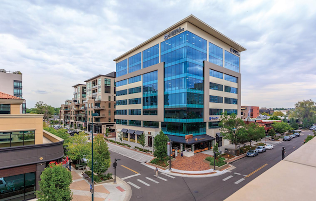 250 Columbine, a $100 million mixed-use development in Cherry Creek North, is part of the in-house portfolio managed by Lisa McInroy's team.