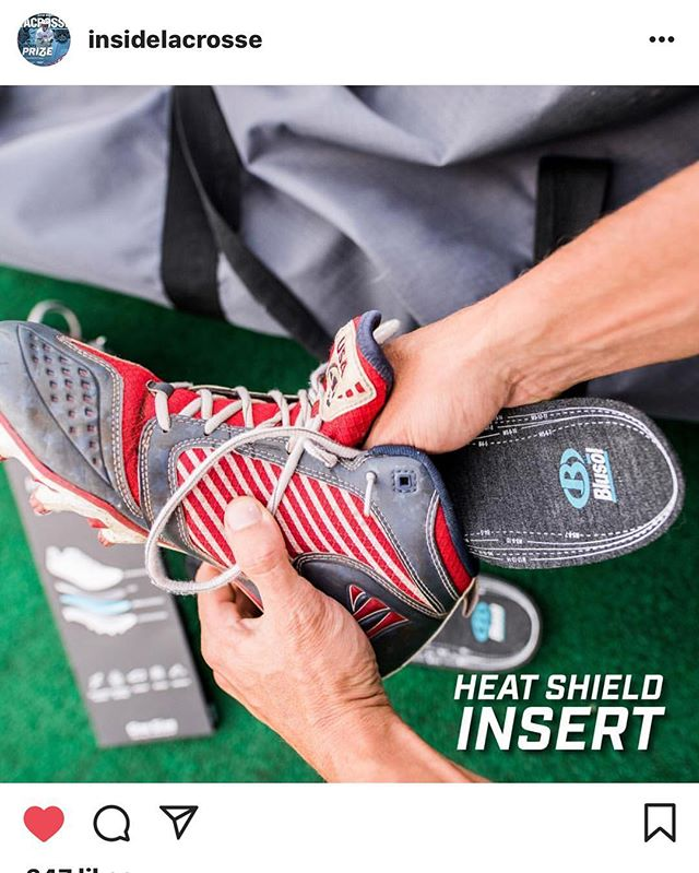 Shout out to our friends @insidelacrosse. Burn the competition, not your feet. #shieldup