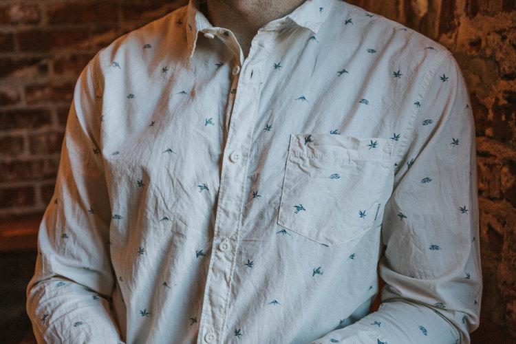 d5884d36223bc1 Men's Fuji Mini Motif Long Sleeve Shirt ...