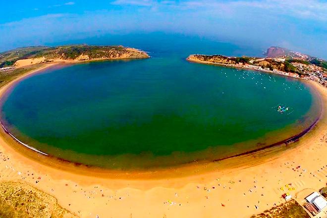 De mooie baai van Saô Marthinho Do Porto